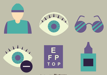 Eye Doctor Element Vector - Free vector #423447
