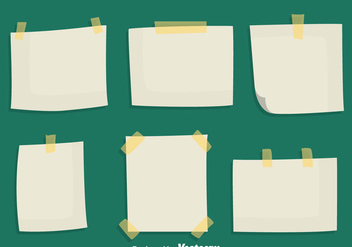 Sticky Notes Paper Vectors - vector #423497 gratis