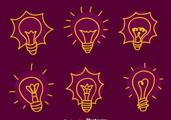 Sketch Light Bulb Vectors - Free vector #423527