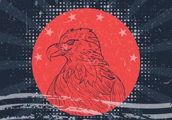 American Eagle Seal With American Flag - Free vector #423577