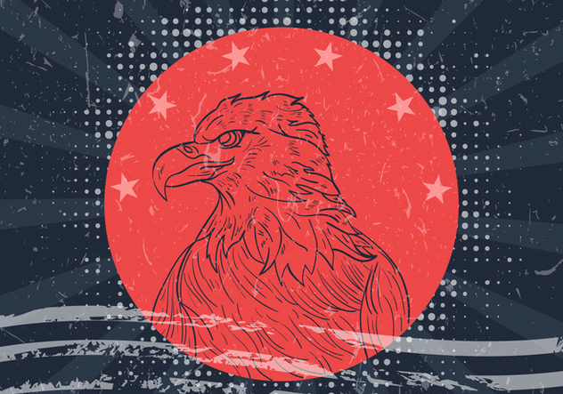 American Eagle Seal With American Flag - vector gratuit #423577