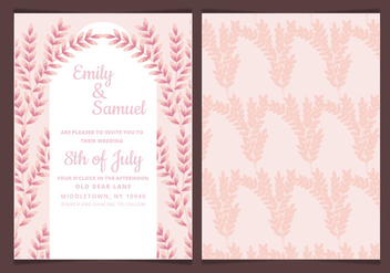 Vector Wedding Invitation with Feminine Branches - Kostenloses vector #423617