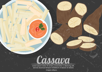 Fried Cassava Vector - vector #423647 gratis