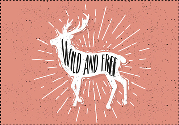Free Hand Drawn Deer Background - Free vector #423717