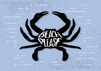 Free Hand Drawn Crab Background - Free vector #423737