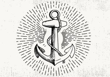 Free Hand Drawn Anchor Background - бесплатный vector #423767
