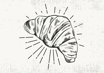 Free Hand Drawn Croissant Background - бесплатный vector #423777