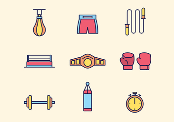 Free Boxing Icons - vector gratuit #423837