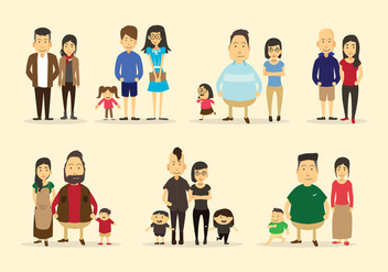 Familia Vector Collection - Kostenloses vector #423907