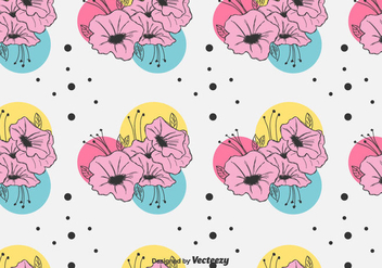 Colorful Petunia Pattern Vector - Kostenloses vector #423917