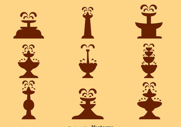 Chocolate Fountain Silhouette Vectors - vector gratuit #423927