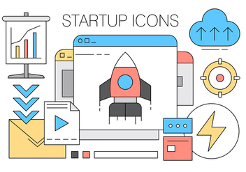 Collection of Startup Icons in Vector - Free vector #423987