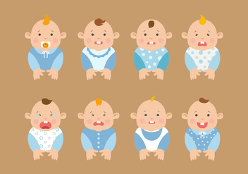Free Baby Expression Vectors - Free vector #424037