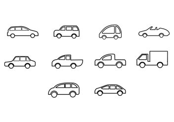 Free car icon vector - бесплатный vector #424047