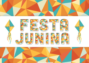 Festa Junina Vector Background - vector #424077 gratis