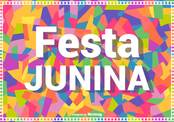 Colorful Festa Junina Vector Background - бесплатный vector #424087