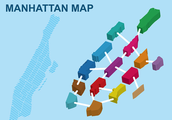 Blocky Manhattan Map - vector #424147 gratis