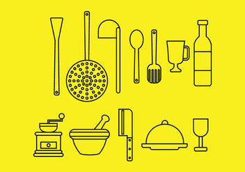 Kitchen Icons - vector gratuit #424167