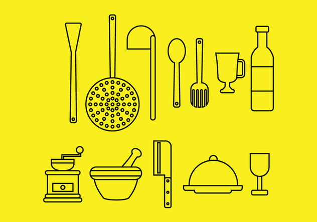 Kitchen Icons Free Vector Download 424167 Cannypic