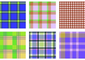 Vector Flannel Patterns - vector gratuit #424197