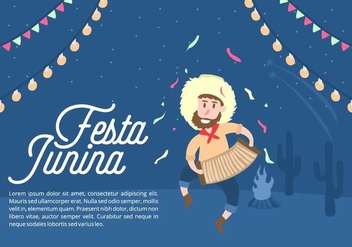 Festa Junina Background - vector #424247 gratis