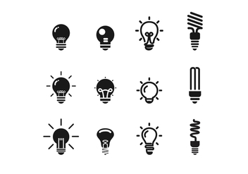 Free BW Ampoule Icon Vector Set - vector #424287 gratis