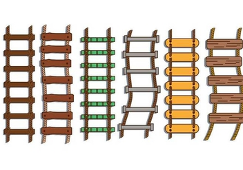 Rope ladder illustration vector set - Free vector #424357