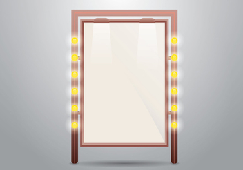 Lighted Mirror or Sign Vector - бесплатный vector #424557