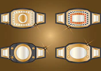 Champion Belt Set - vector gratuit #424627