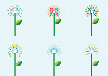 Colorful Blowball Vector Pack - Kostenloses vector #424647