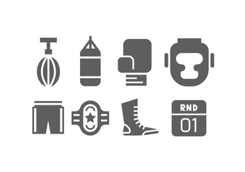 Simple Boxing Vector Icons - vector #424687 gratis