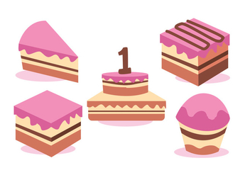 Birthday Vector Set - vector gratuit #424717