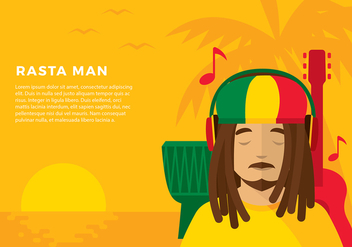 Head Phone Listening Reggae Free Vector - бесплатный vector #424767