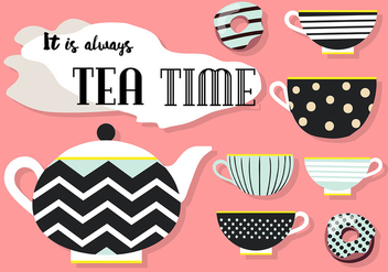Free Set of Tea Vector Icons - vector #424857 gratis
