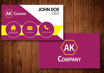 Creative Business Card - vector #424867 gratis