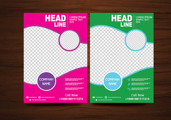 Vector Brochure Flyer design Layout template in A4 size - vector #424927 gratis