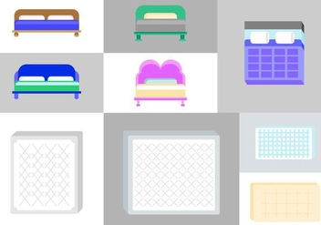 Free Mattress Vector Pack - vector #424937 gratis