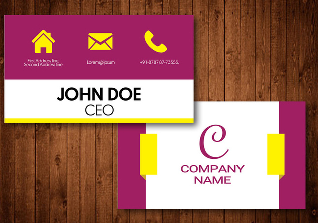 Elegant Visiting Card - vector #424947 gratis
