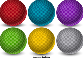 Colorful 3D Vector Dodgeball Balls - vector gratuit #425017