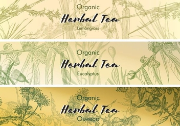 Tea Labels Vintage - Kostenloses vector #425057