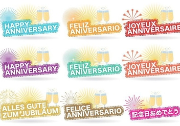 Anniversary Titles - vector gratuit #425067