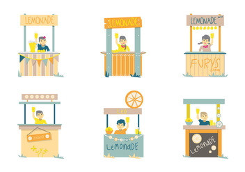 Lemonade Sellers Vector - Free vector #425127