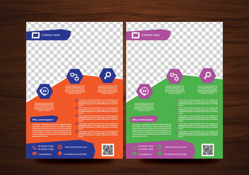 Vector Brochure Flyer design Layout template in A4 size - vector #425137 gratis