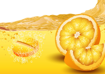 Citrus Flavored Effervescent Vector - Free vector #425187