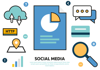 Free Social Media Vector Illustration - Kostenloses vector #425197