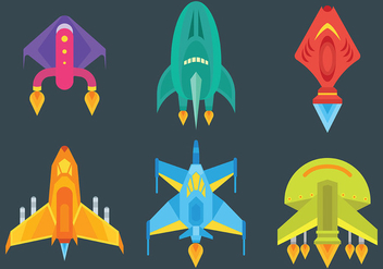 Free Starship Icons Vector - Kostenloses vector #425227