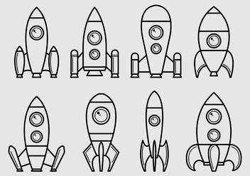 Set Of Starship Icons - Free vector #425247