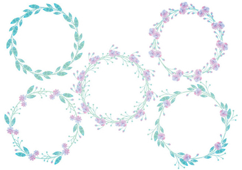 Vector Floral Wreaths - Free vector #425337
