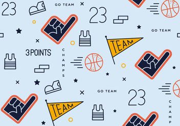 Free Basket Ball Pattern Vector - vector gratuit #425367