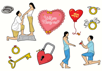 Free Wedding Vector - бесплатный vector #425387